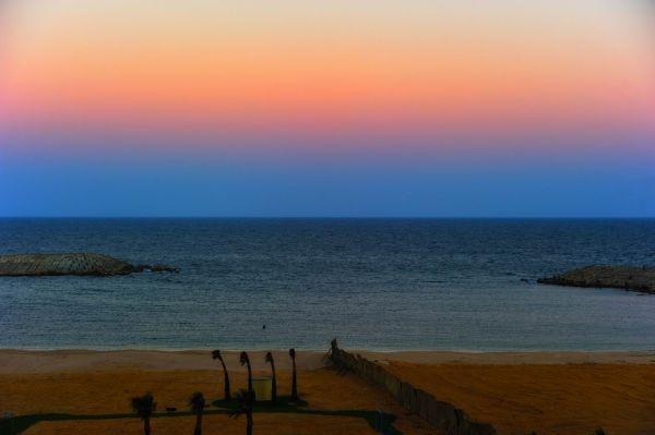 twiligh color at alexandria beach