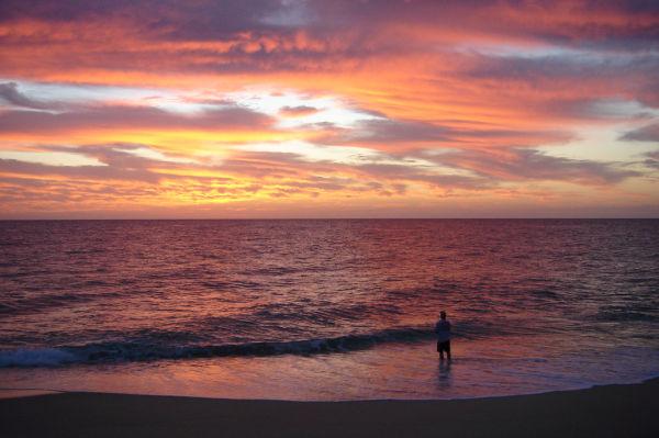 Fishing alone in Baja.
