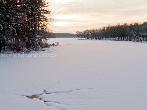 Soft Snow Sunset