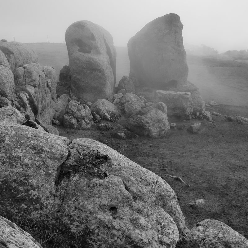 Boulders and Rolling Fog