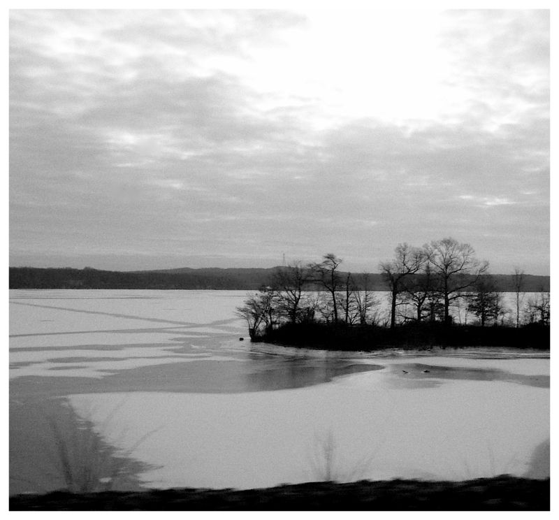 Iced lake in New Jersey