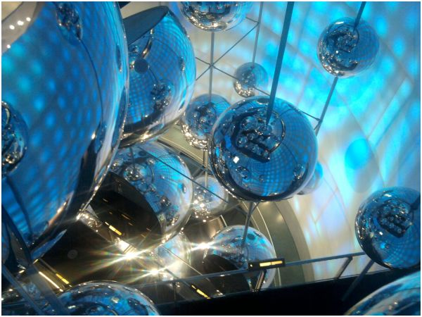Steel balls at the Voest Stahlwelten Linz