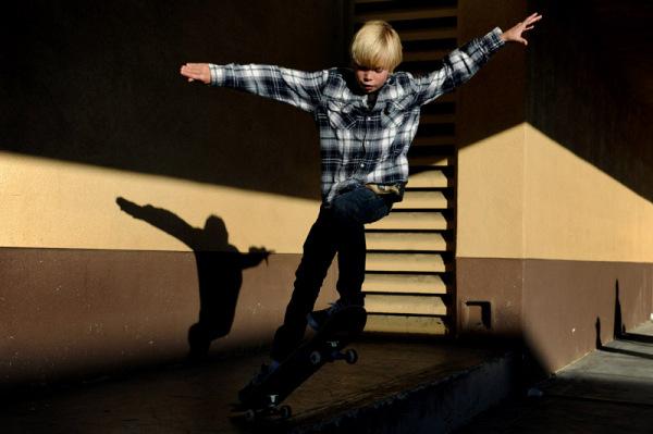 Skater in Shadows
