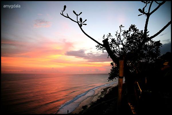 sunset beach, dusk, uluwatu, bali
