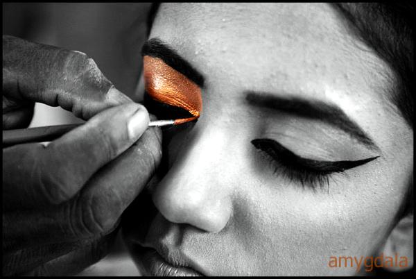 makeup, eye, dancer