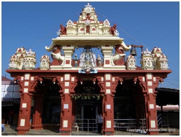 Entrance to Krishna Matha