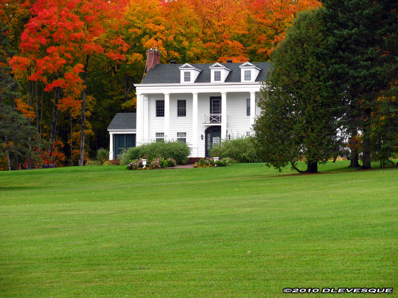 Mansion in the fall
