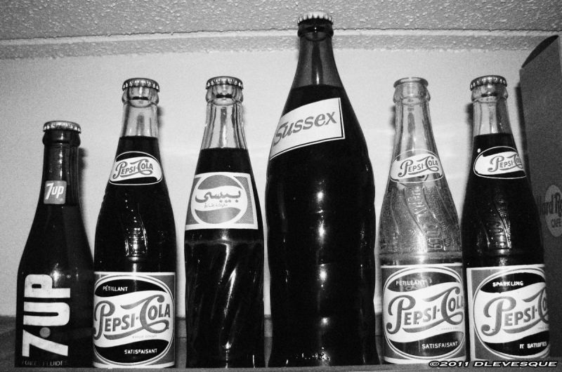 Soda pop bottle collection