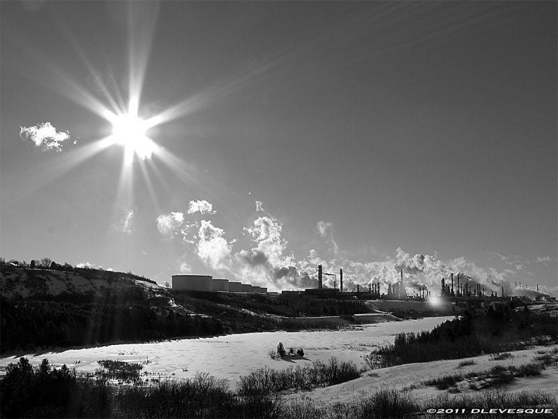 Sun over industry