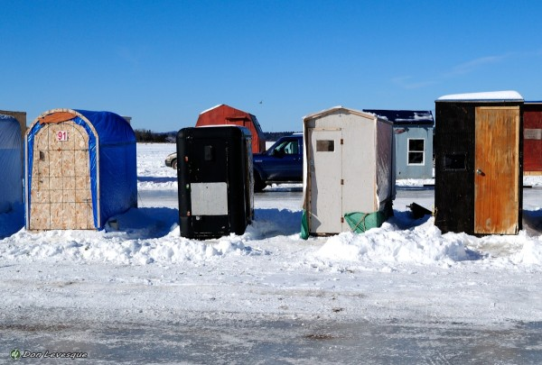 Very small ice huts