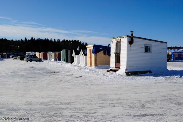 Ice hut village