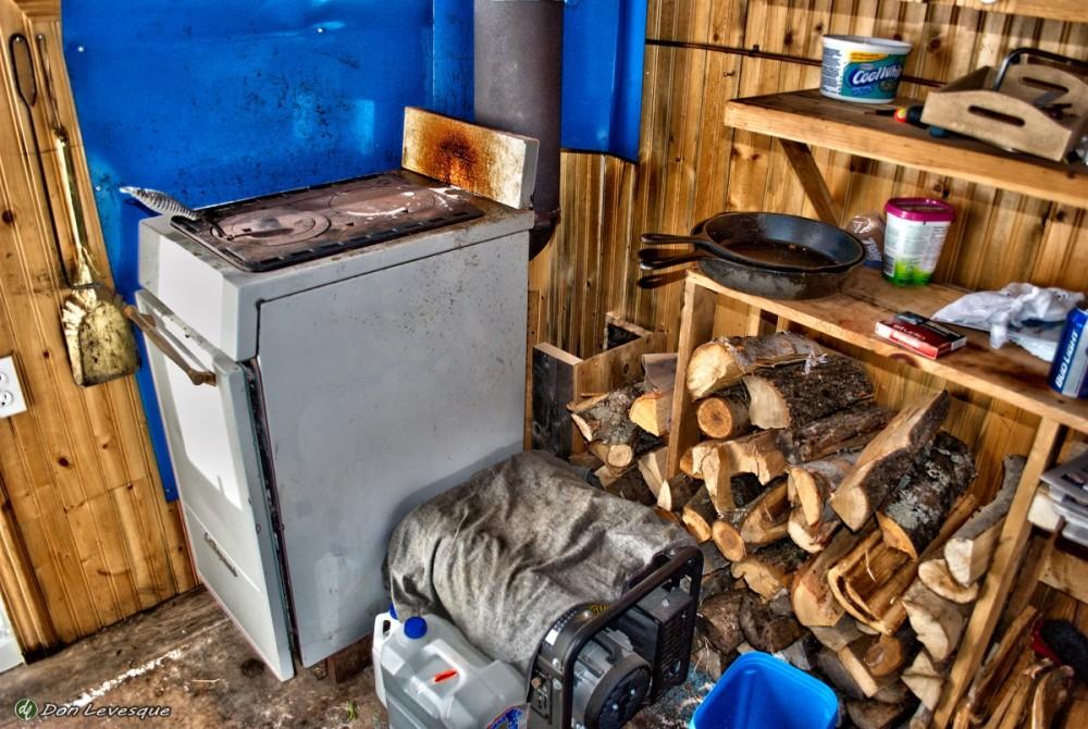 Inside ice hut #8