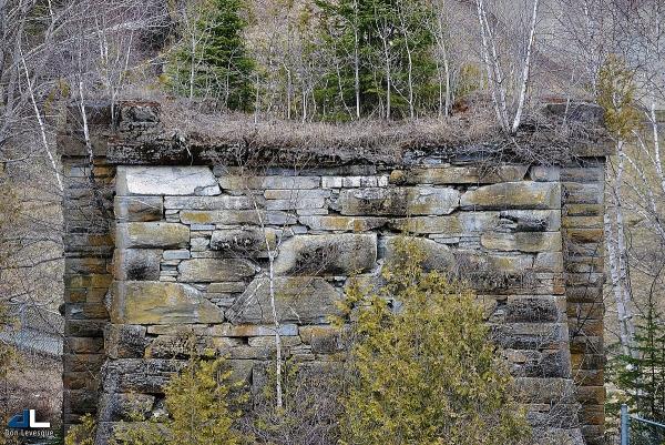 Remnants of a bridge