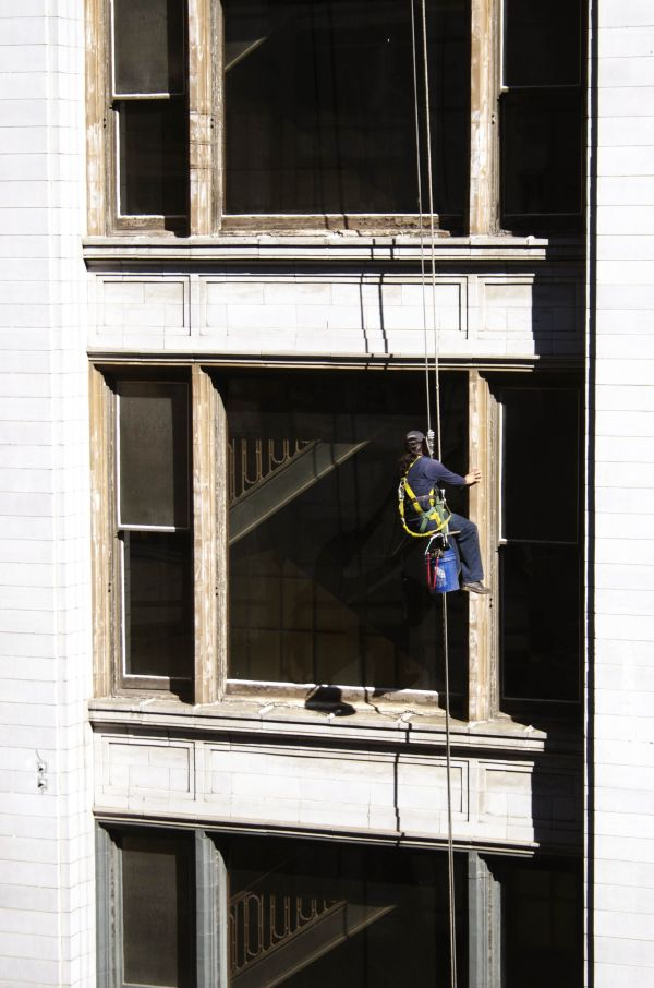 Window Cleaner Thirteen Stories Up
