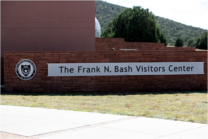 Visitir Center of MvDonald Observatory