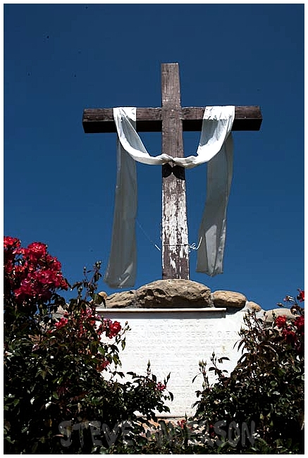 View of the Cross Outside Santa Barbara Mission