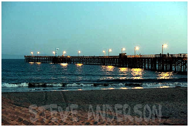 Goleta Pier at Night