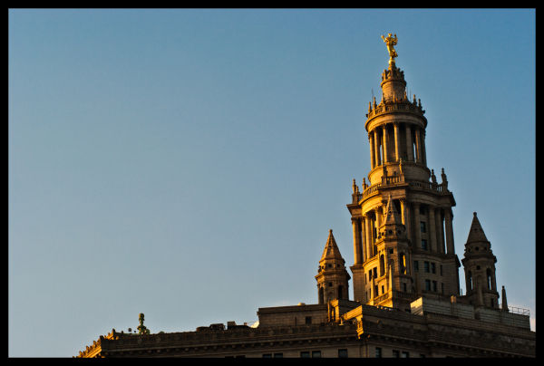 Building, Tower, Statue, happy, city, hell, Sky, F