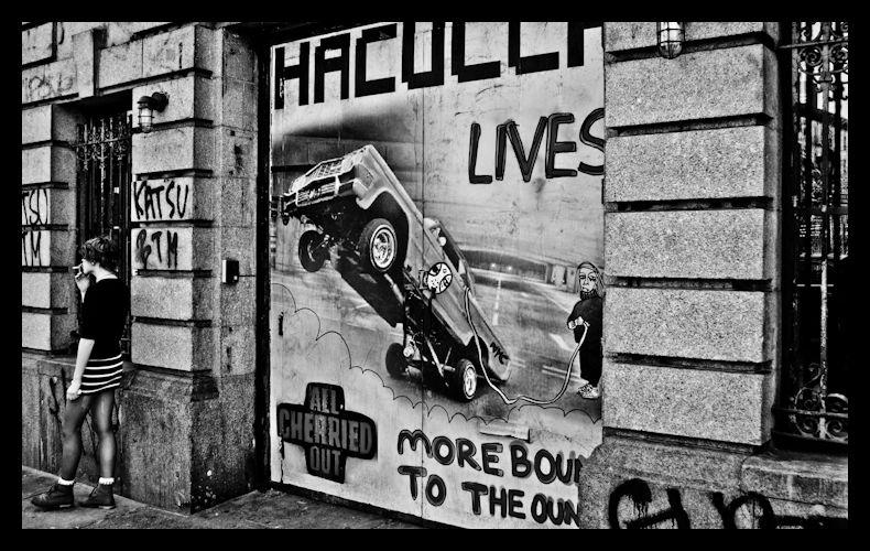 Girl,Poster,graffiti,nyc,city,Manhattan,smoking,st