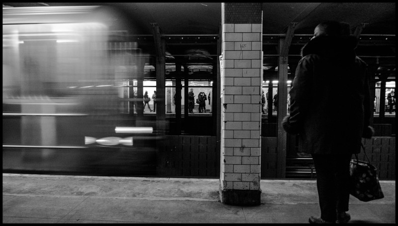Train coming.