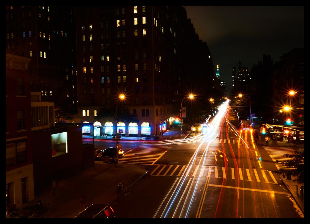Manhattan, City, Colors, Trails, Street