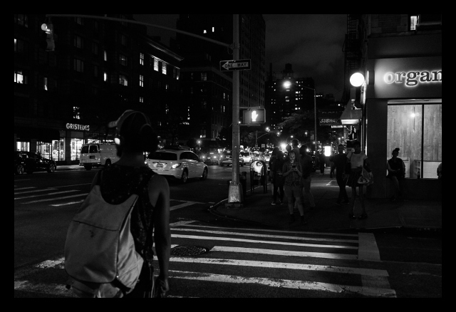Street, People, Night. City, Manhattan, NYC, Traff