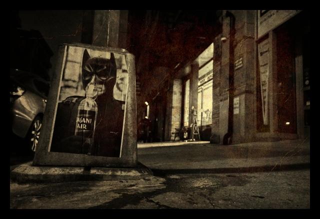 Street, Manhattan, city, signs, batman