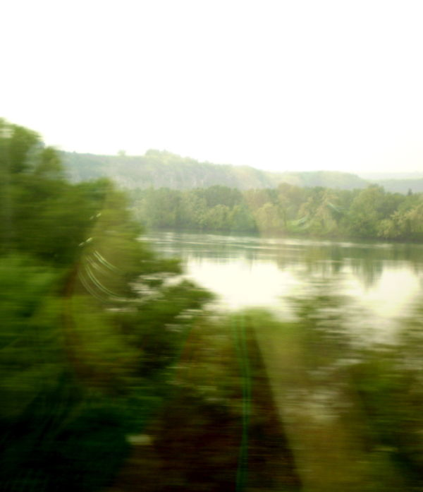 Through the window train