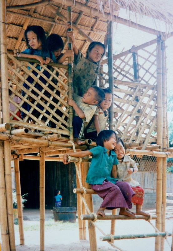 Playground, refugees camp