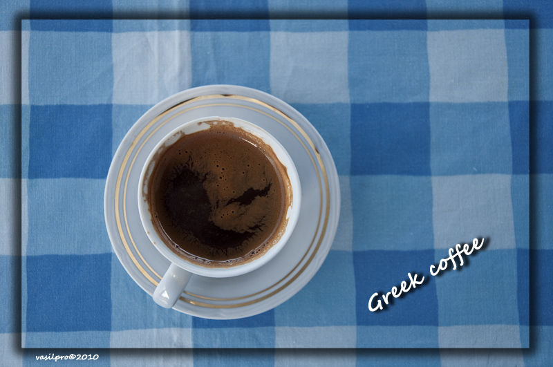 A cup of Greek coffee