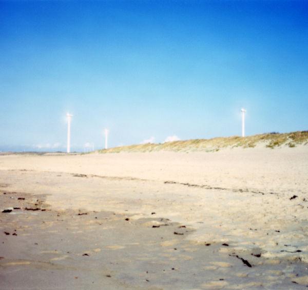 windcraft seen from a beach in zeeland