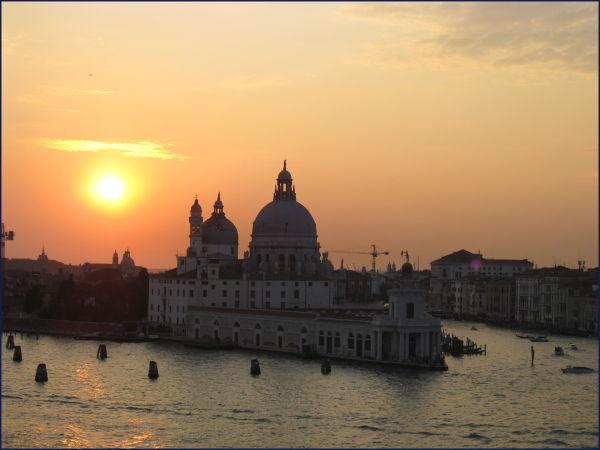 Venice Italy at dusk