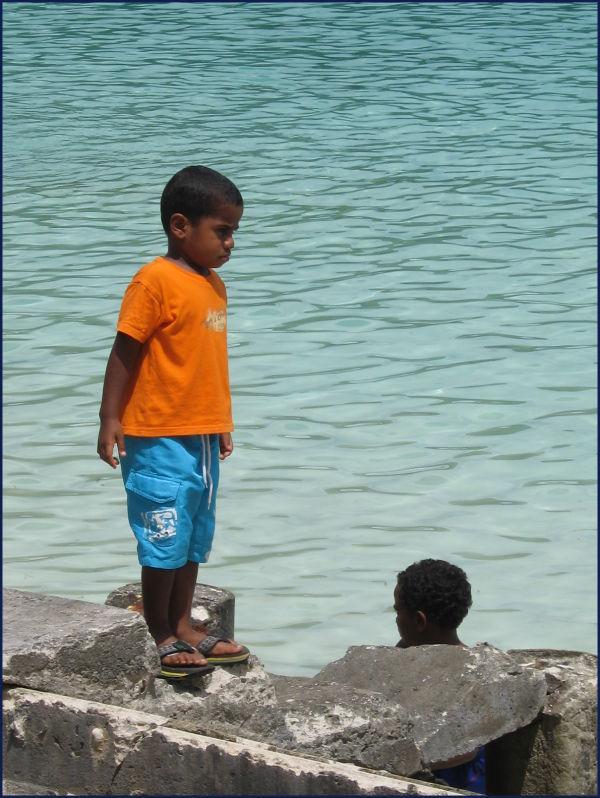 children at the beach- Vanuatu