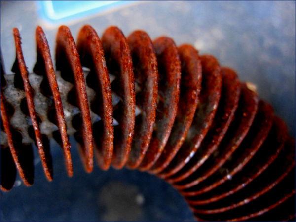 rusty car coil