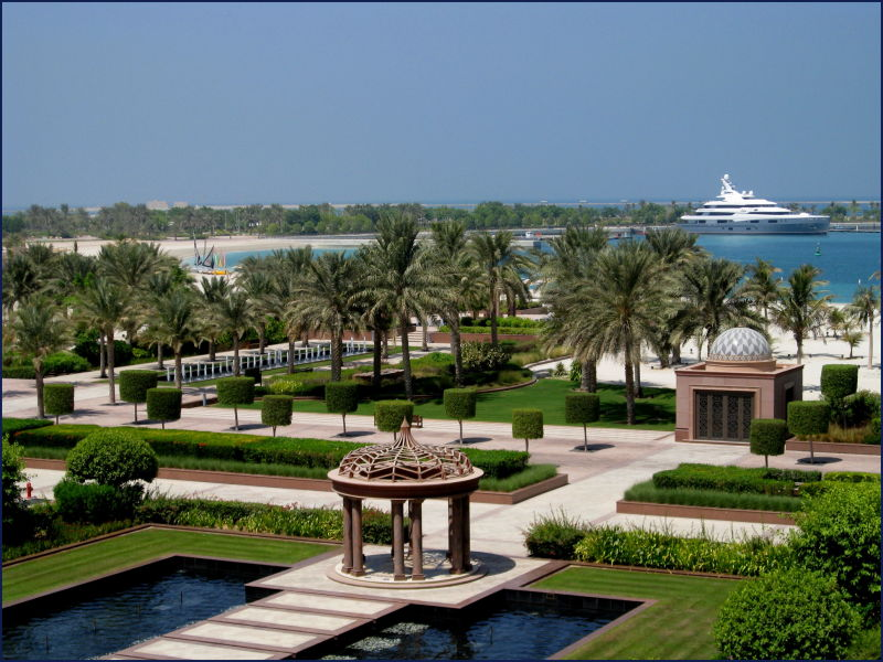 Prince of UAE's yacht moored in Abu Dhabi