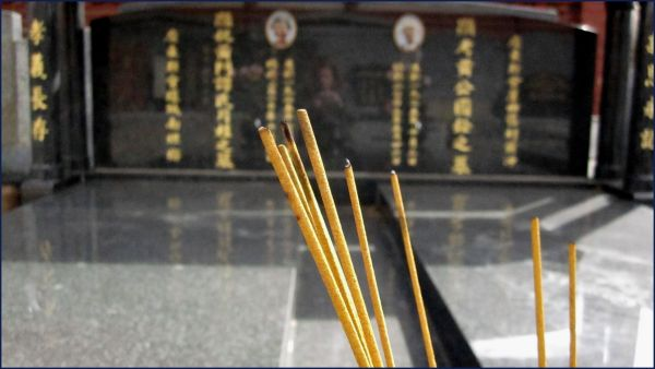 incence at Chinese grave