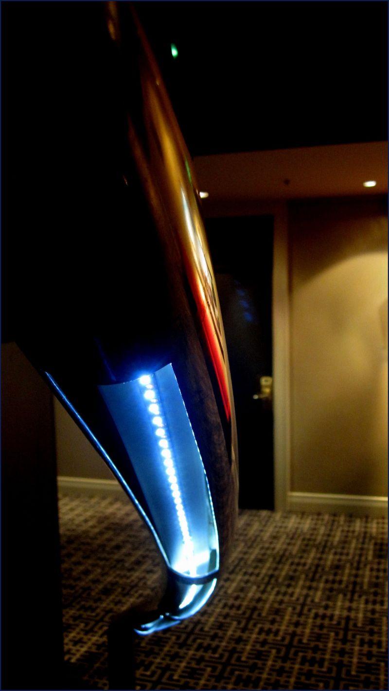 LED lights under a hand rail