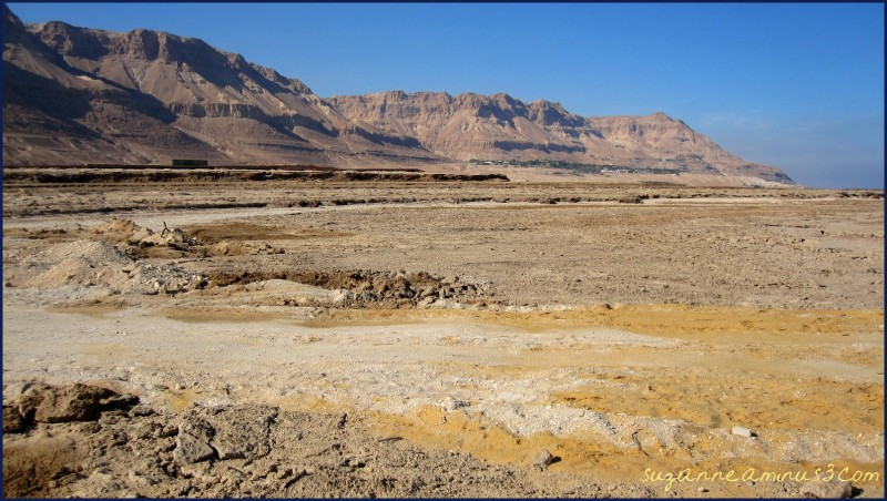 Dried up ground of Dead Sea Israel