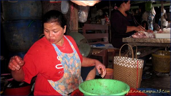 fish stall Bangkok Thailand