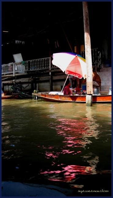 floating market stall Bangkok Thailand