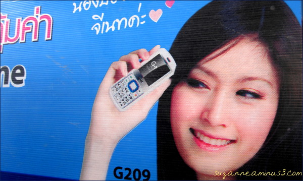 bill board; famous boy girl model Bangkok Thailand