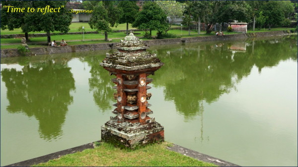 Balinese temple and lake Lombok