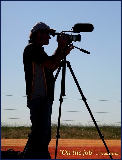 a man filming at the Melbourne Airshow