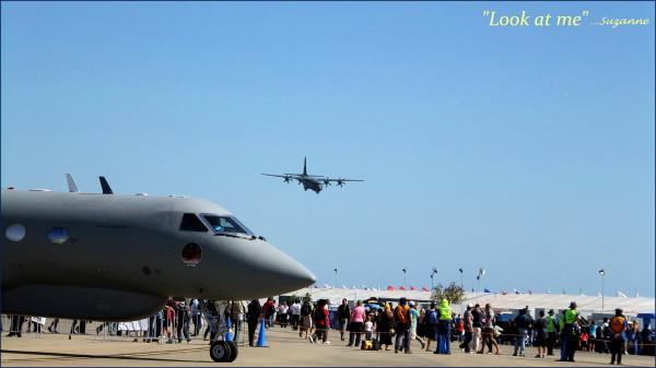 Hercules about to land; Melbourne airshow
