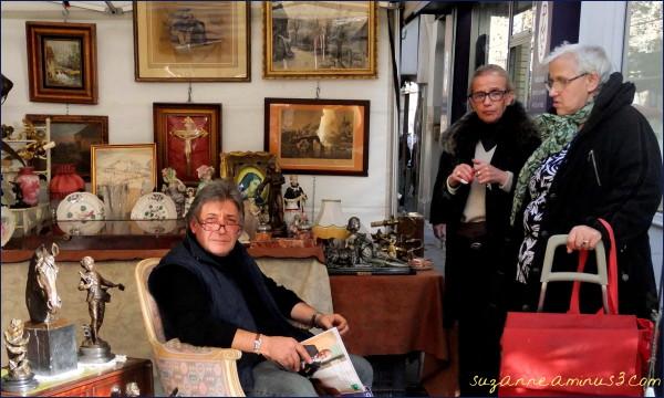 image, antique, market, people, paris