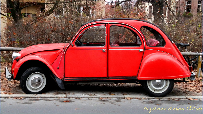 image, car, citroen, red, old, nuremburg, germany