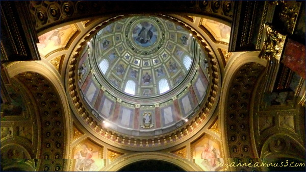 Budapest, cathedral, inner, dome