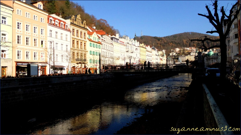 Karlov Vary, CZ, buildings, river