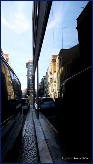 reflection, window, shop, car, street, lisbon
