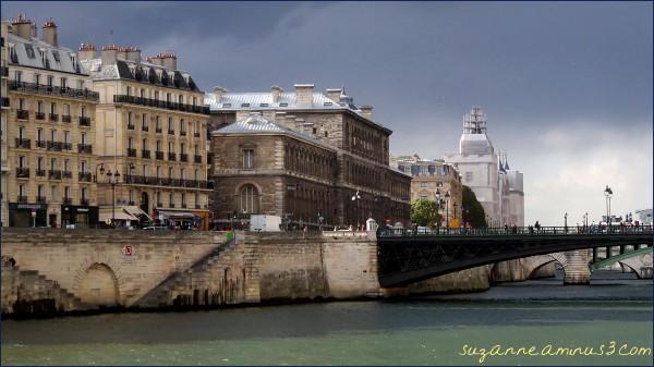 image, paris, seine, storm, sky